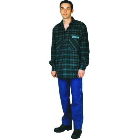 Chemise 100% coton le Laboureur avec 2 poche poitrine avec fermeture à glissières