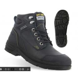 Chaussures de sécurité montantes WORKER S3, metalique, en cuir