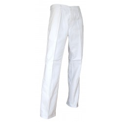 PANTALON de peintre 100 % Coton 340 grs blanc , PINCEAU