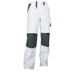 PANTALON DE PEINTRE bicolore CREPI coton/polyester