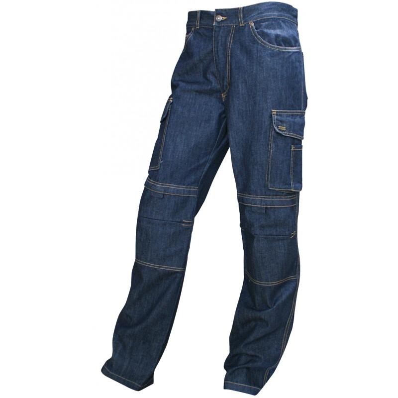 pantalon en jean extensible pais et solide dot de nombreuses poches. Black Bedroom Furniture Sets. Home Design Ideas