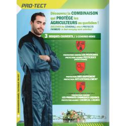 Combinaison PRO TECH ANTI HAPPEMENT ET PROTECTION PRODUITS CHIMIQUES LIQUIDES