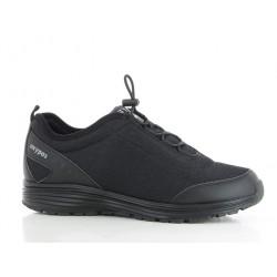 Chaussures professionnelles basket JAMES SRA homme OXYPAS pieds sensibles noir